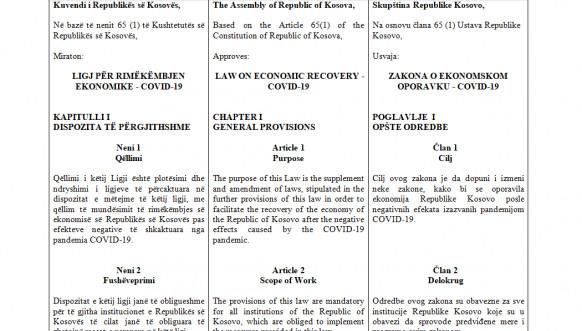 Zakon o ekonomskom oporavku