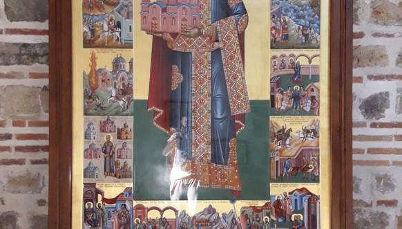 Žitije Sv kralja Milutina - Ikona