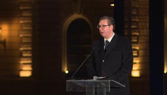 Predsednik Vučić prilikom otkrivanja spomenika Stefanu Nemanji
