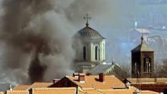 Martovski pogrom paljenje crkve