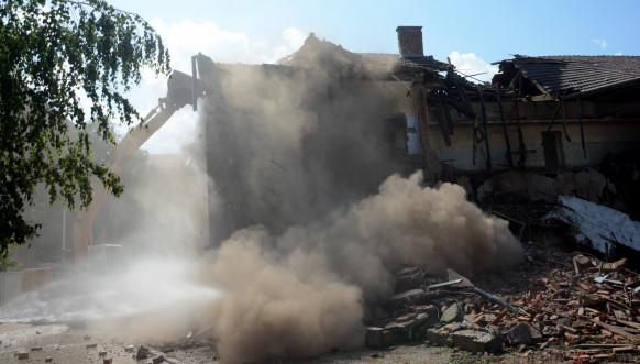 Radovi na pripremi terena za izgradnju nove zgrade Prištinskog univerziteta