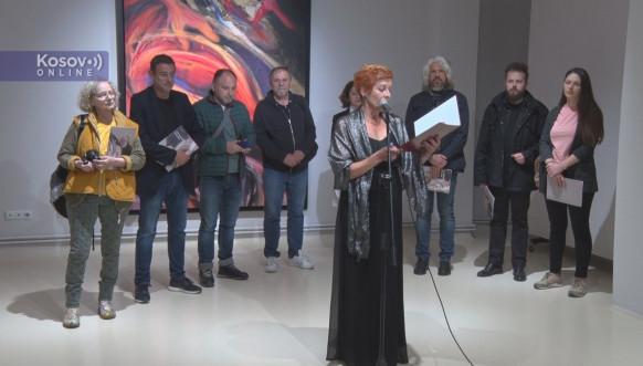 Otvaranje izložbe Miloša Šobajića u Gračanici