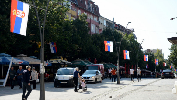 Severna Mitovica - srpske zastave
