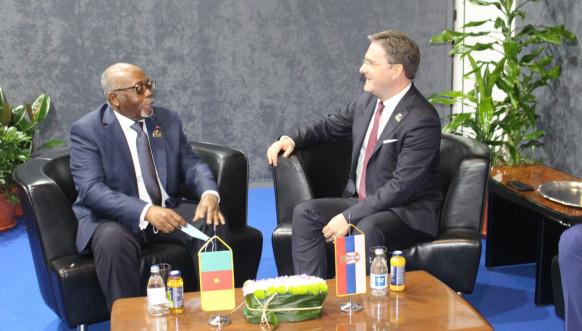 Selaković sa Kamerunom Lženom Mbelom