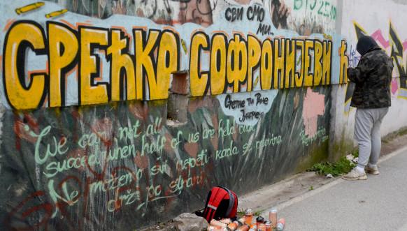 Grafit posvećen Srećku Sofronijeviću