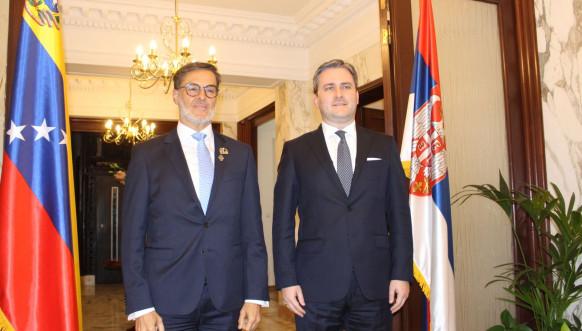 Selaković sa ministrom inostranih poslova Venecuele