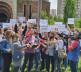 protesti studenata kod crkve Hrista Spasa u Prištini