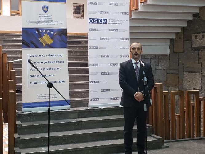 "Poverenik za jezike Slaviša Mladenović na dodeli nagradaza ""Najbolje prakse u primeni Zakona o upotrebi jezika"""