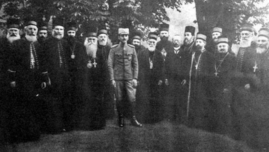 Regent Aleksandar sa episkopatom crkve 1921. godine