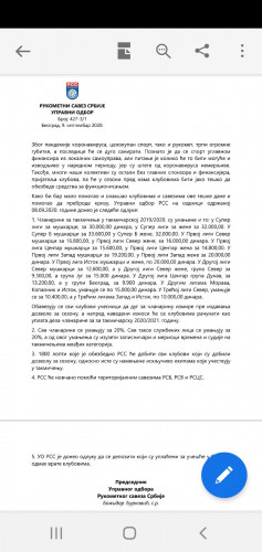 Odluka Rukometnog saveza Srbije