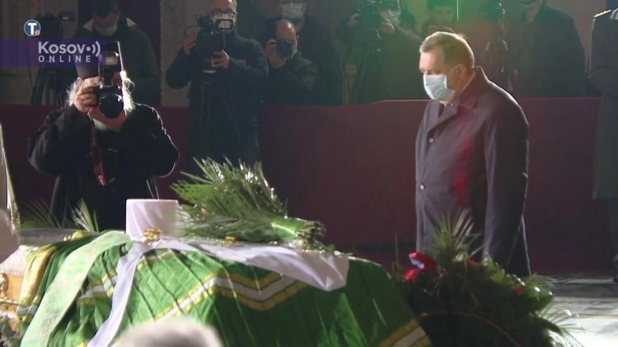 Dodik u Hramu na sahrani patrijarha