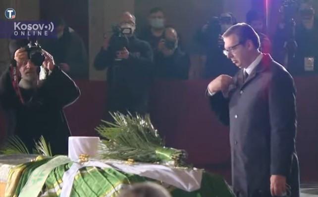 Vučić u Hramu Svetog Save na sahrani patrijarha Irineja