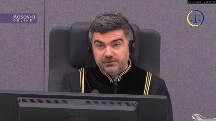 Četvrta statusna koferencija u slučaju Tačija i ostalih - sudija Giju