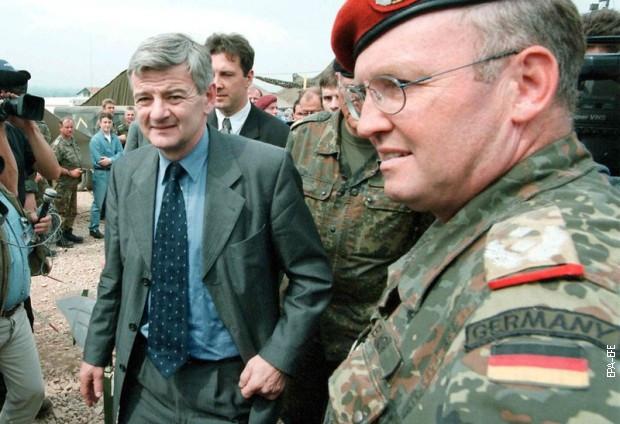 Joška Fišer, 9. maja 1999. u Skoplju