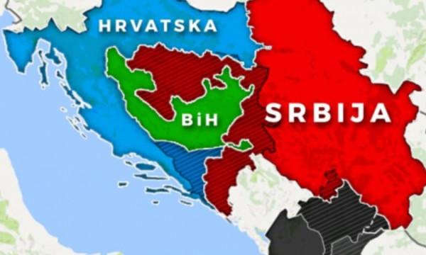 Mapa revizije granica na Balkanu
