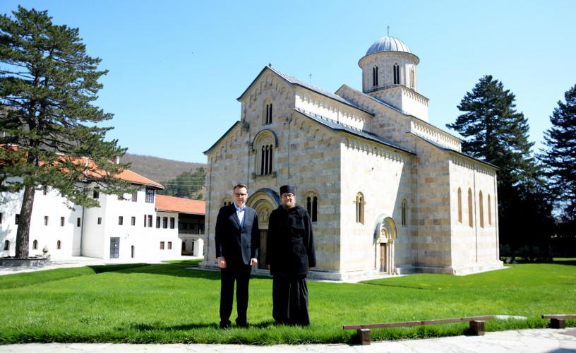 Petar Petković i iguman manastira Visoki Dečani Sava Janjić