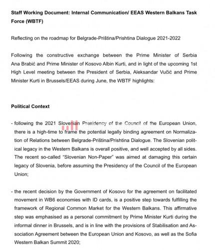 Izveštaj Saveta Evrope nakon neformalne večere sa liderima Zapadnog Balkana
