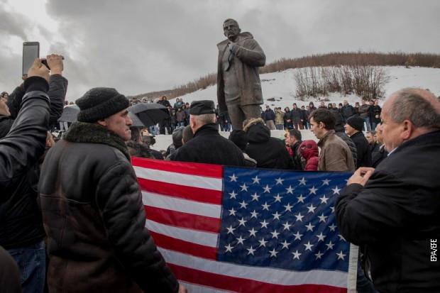 Otkrivanje spomenika Vilijemu Vokeru u Račku, 17. januara 2017.