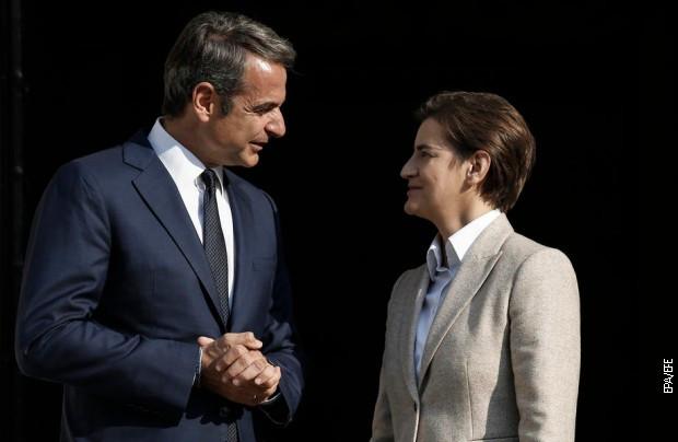 Grčki premijer Kirijakos Micotakis i predsednica Vlade Srbije Ana Brnabić