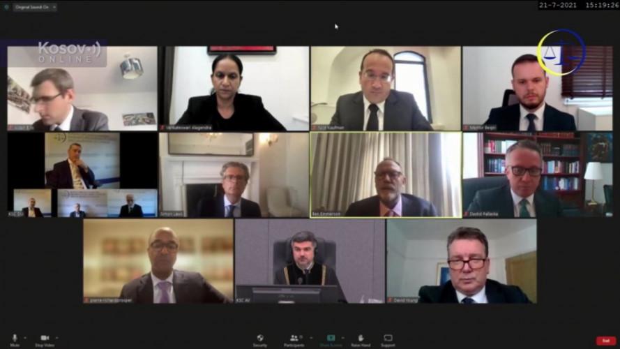 Proces Tačiju i drugima, video konferencija