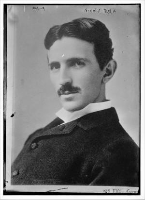 Nikola Tesla 1893, fotografija Napoleona Saronija
