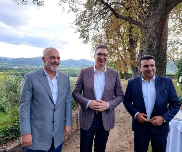 Rama, Vučić i Zaev sastali se na Bledu