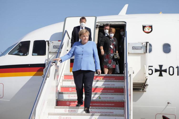 Dolazak Angele Merkel u Tiranu