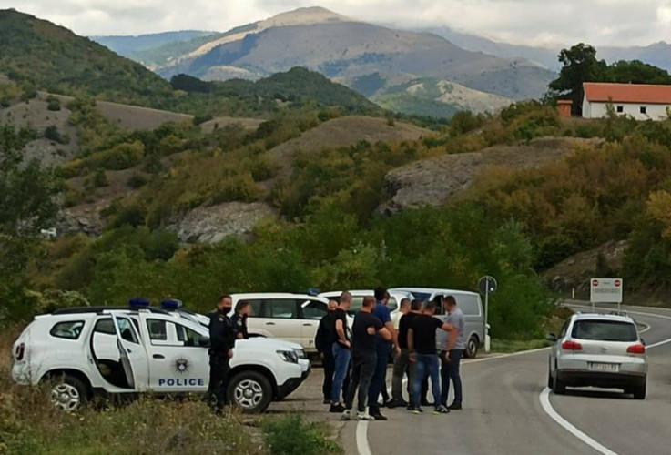 Pripadnici Kosovske policije na prelazu Jarinje